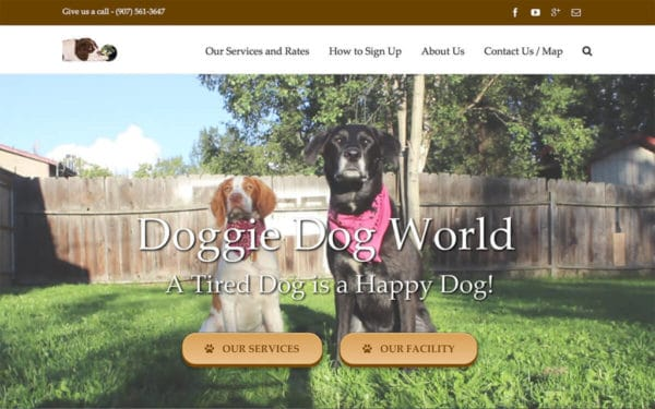 Photo of Doggie Dog World's Website