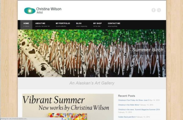 Screenshot of Christina Wilson Art Website