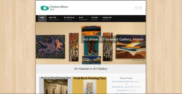 Picture of Christina Wilson Art's Website